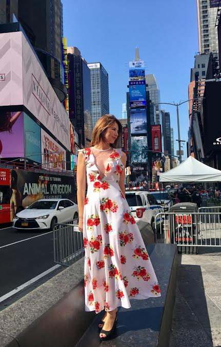 Times Square, New York - Eat Fly Dress by Yuliah Vine