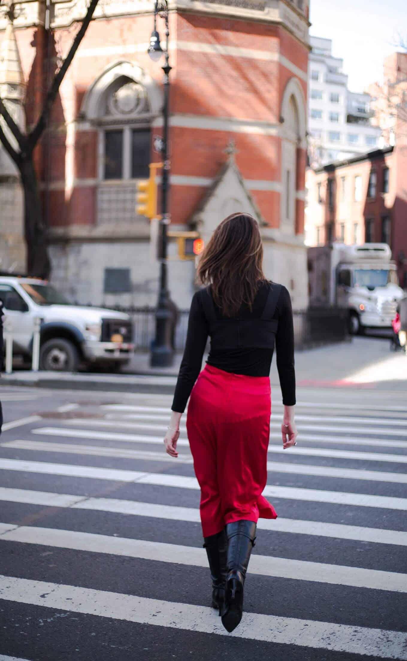 От зимы к весне. Что носить Yuliah Vine in West Village New York