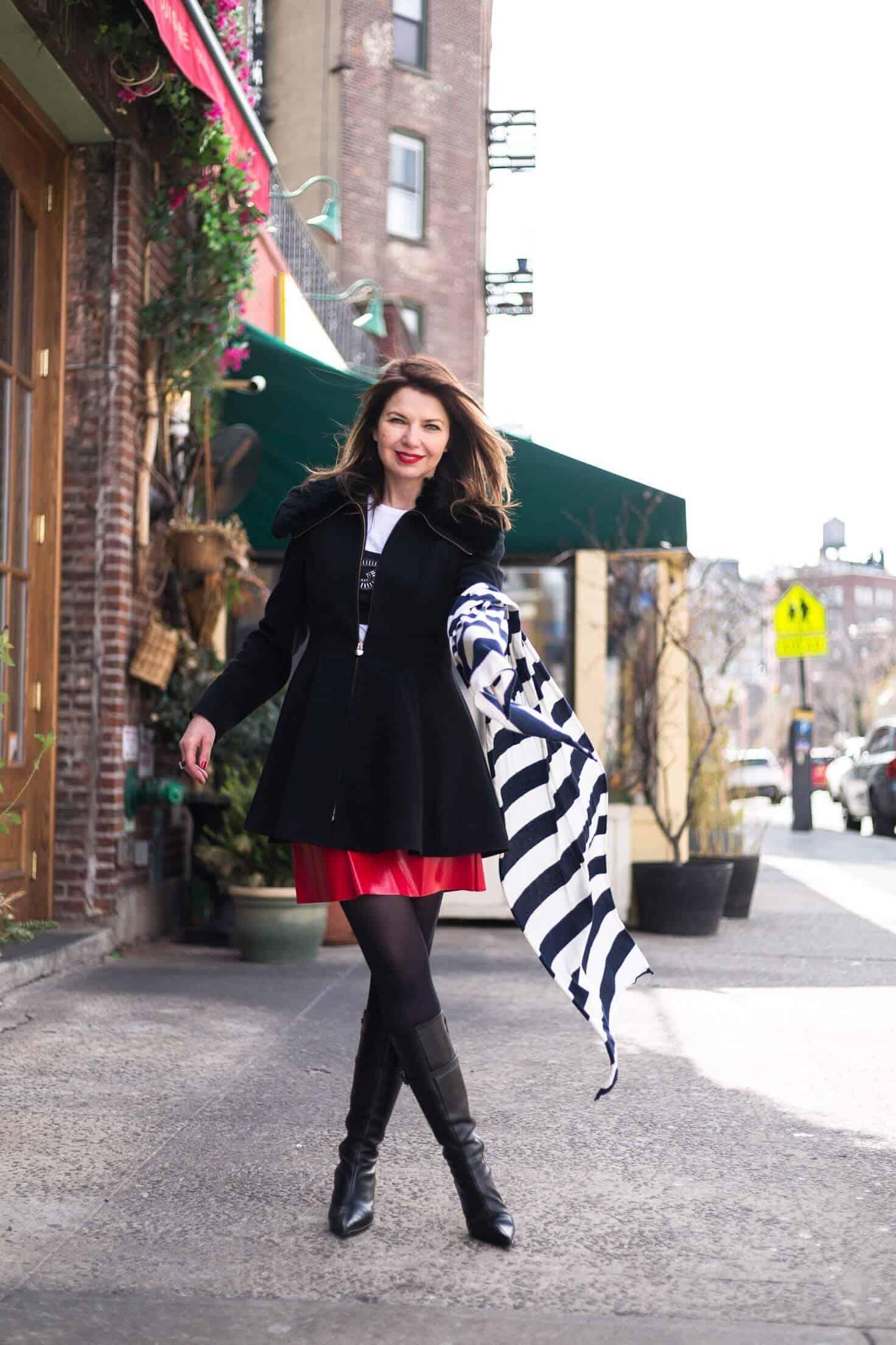 От зимы к весне. Что носить Yuliah Vine in West Village - New York