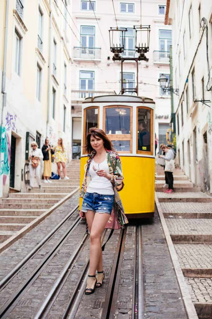 Tram N28 - Lisbon - EAT-FLY-DRESS by Yuliah Vine