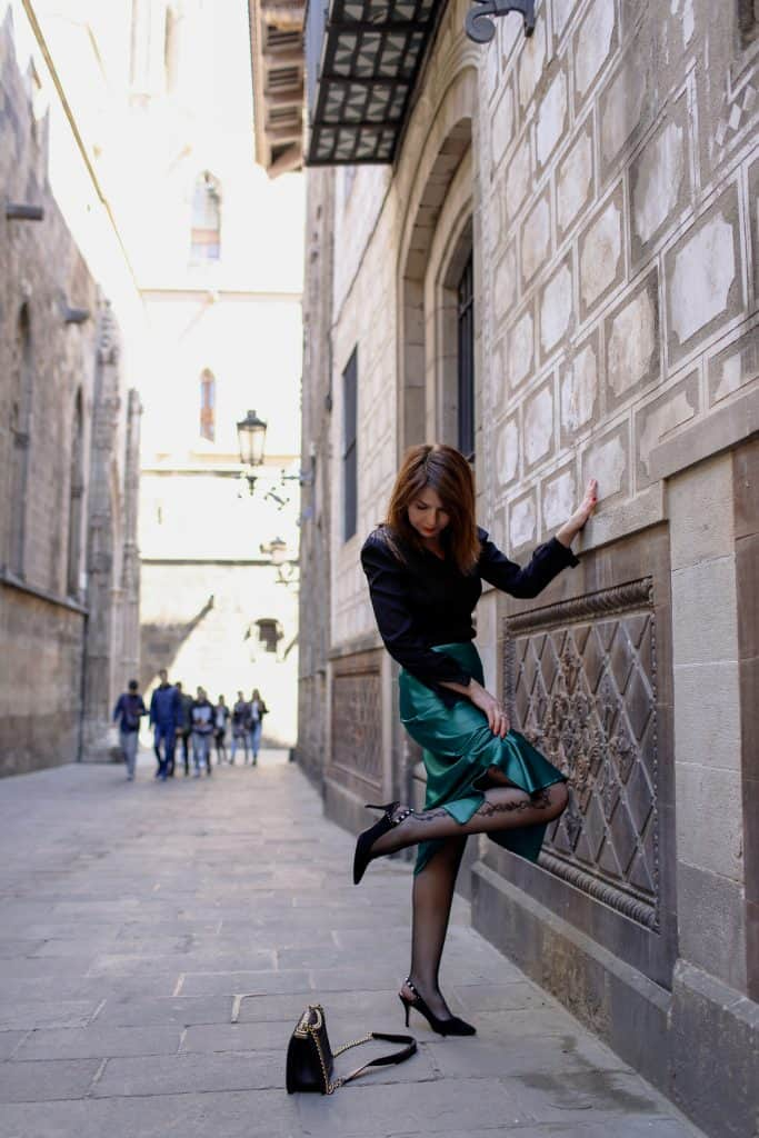 Green skirt - spring trends 2019 by Eat-Fly-Dress